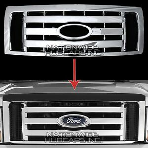 Details About 2009 2012 Ford F150 Chrome Snap On Grille Overlay Front Grill Cover Trim Insert