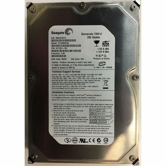 Seagate 250GB, 7200RPM, IDE - ST3250823A