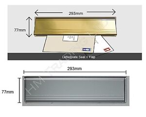 PVC-Door-Metal-Letter-Box-Plate-Seal-Flap-Cover-Brush-Internal-Draught-Excluder