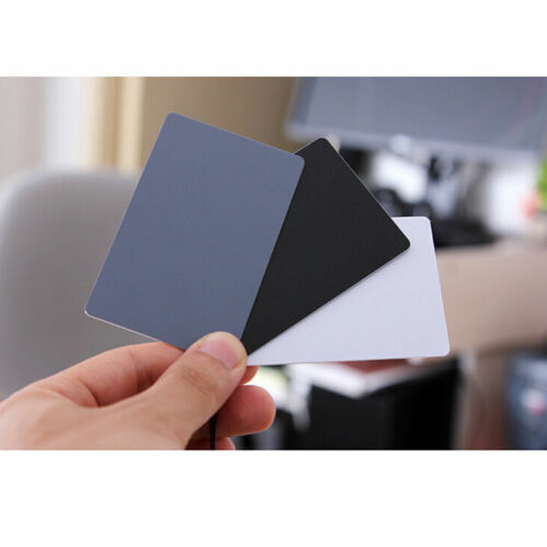 3 in 1 Pocket-Size Digital White Black Grey Balance Cards 18/% Gray Card AA