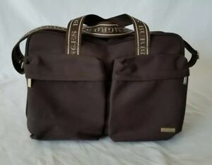db93b6c5bcf6 Image is loading Burberry-Fragrances-Designer-Brown-Duffle-Bag -Tote-Overnight-