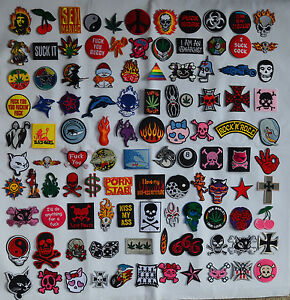Iron on Patches patch BUY 3 GET 1 FREE surf punk skulls emo goth retro weed bike