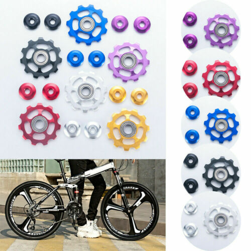 Aluminum Bike Bicycle Jockey Wheel Rear Derailleur with 11T Gear Guide Pulley