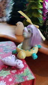G1-My-Little-Pony-Splasher-with-Brush-amp-Float-Baby-Sea-Pony-Vintage-Hasbro-MLP