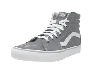 0d139be85a VANS SK8-Hi Frost Gray White Lace Up Fashion Athletic Sneakers Adult ...