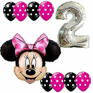 Image Is Loading 2nd Birthday Party Supplies Minnie Mouse Second Foil