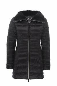 Save The Duck Womens Jacket Black Size Small S Full-Zip Faux-Fur $248- 259