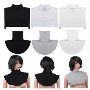 Da-Donna-Cotone-Finta-Dolcevita-False-Finte-Meta-Camicia-Collare-Pettorina-Rimovibile-Cover