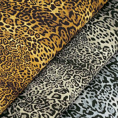 Cotton Fabric FQ Leopard Jaguar Skin Print Wild Animal Dress Quilt Crafts VK118