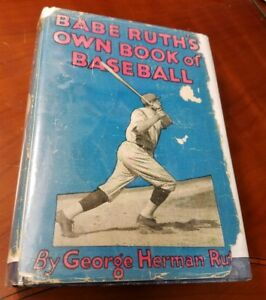 1928-Babe-Ruth-039-s-own-book-of-Baseball-with-original-Jacket