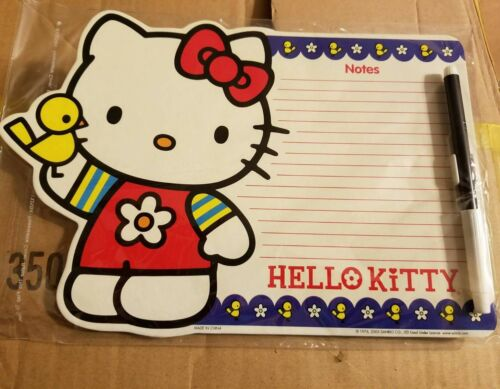 Sanrio Hello Kitty dry erase memo board-magnetic with marker-BRAND new