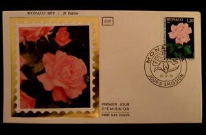 MONACO-PREMIER-JOUR-FDC-YVERT-1200-ROSE-P-GRACE-1-20F-1979