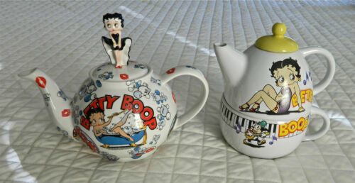 "TWO VERY UNUSUAL BETTY BOOP TEAPOTS - THEY ARE ""SMALL BETTY"" & ""TEAPOT IN CUP"""
