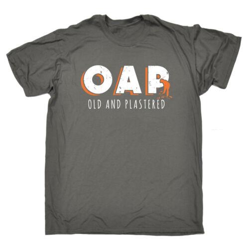 OAP vecchio e intonacata T-shirt 65 Bere Birra Vino Festa Compleanno Pensione