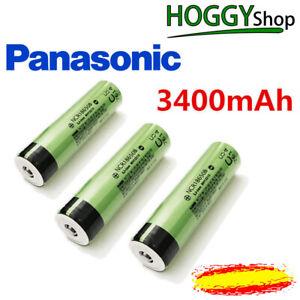 Pila recargable Panasonic 18650 3400mAh NCR18650B 3,7V Batería no protección PCB