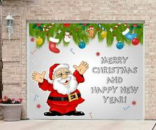 Christmas Garage Door Covers Banner Outside House Decorations Single Garage GD57