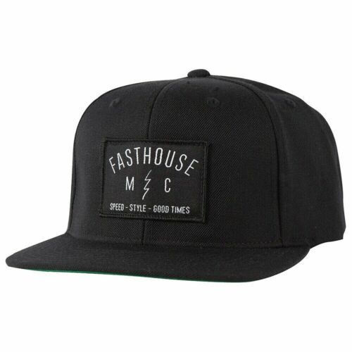 FastHouse M/C Static Hat - Speed-Style-Good Times Black, New, Snapback Fit