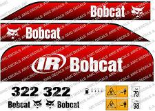 BOBCAT 322D Mini Escavatore decalcomania Set
