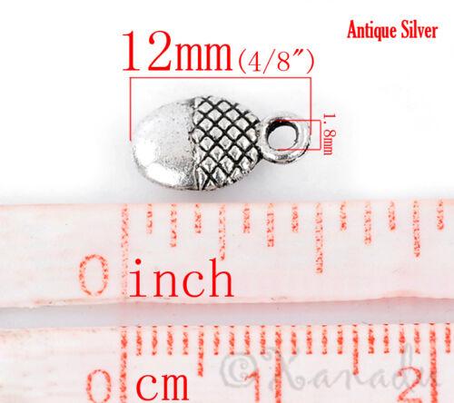 Acorn Charms 20 Or 50PCs Wholesale Antiqued Silver Plated Pendants C2107-10