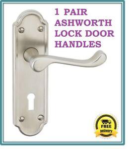 1-Pack-Ashworth-Lock-Interior-Door-Handles-Satin-Finish-D6