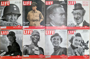 Lot-of-16-1950-LIFE-Mags-McArthur-Hoskins-Wynn-Shilluk-Stuart-Symington-Korea