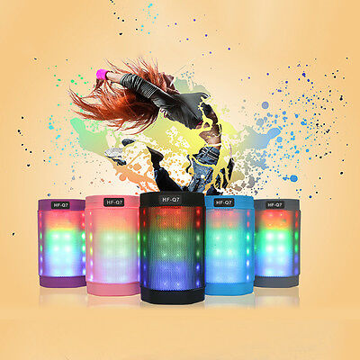 Portable Wireless Bluetooth PULSE LED Light Stereo Speaker With FM For Party