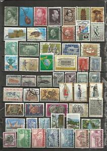 Q599-LOTE-SELLOS-GRECIA-SIN-TASAR-SIN-REPETIDO-ESCASOS-GREECE-STAMPS-LOT-WITHOUT