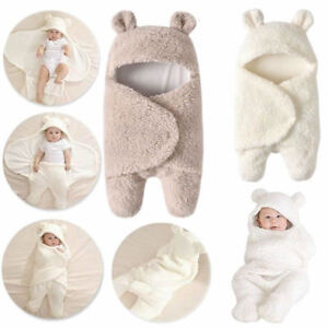 Babydecke Wolle Kapuze Kinderwagendecke Winter Fleece Wickeldecke Einschlagdecke