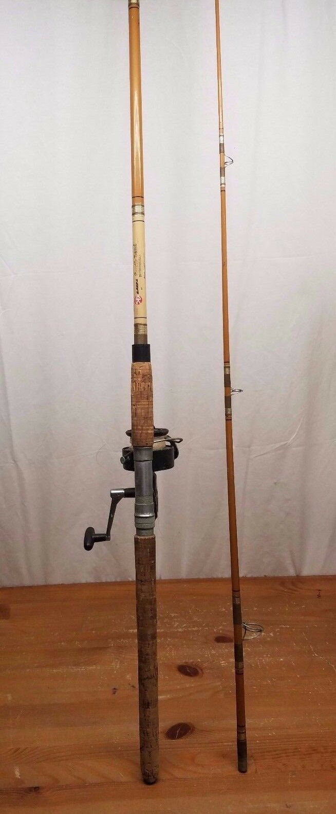 South Bend Outdoorsman  Fiberglass 7ft 2pc Spinning Rod with 760 Reel Spinning