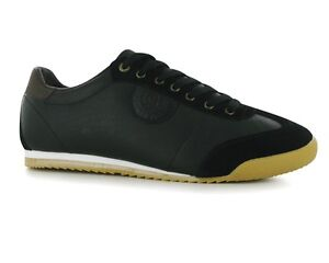 Image is loading Mens-Nicholas-Deakins-KENDALL-Leather-Trainers-Black-RRP-