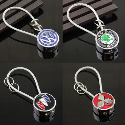 Auto 3D High Quality Car Logo Metal Key Chains Key Holder Silver Chain Keyring