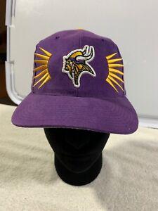 Vintage-90s-Sun-Burst-Minnesota-Vikings-Hat-Cap-Official-NFL-Pro-Line-Starter