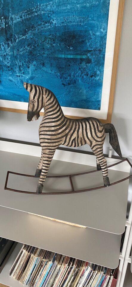 Dekorativ gynge zebra, Vintage