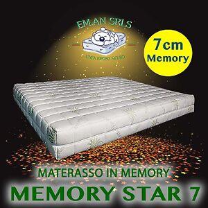 MATERASSO SINGOLO MEMORY 7 CM ORTOPEDICO ALOE VERA SFODERABILE ...