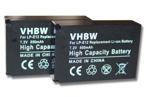 original VHBW ® batería para 650mah para Canon EOS m100 lp-e12 2st