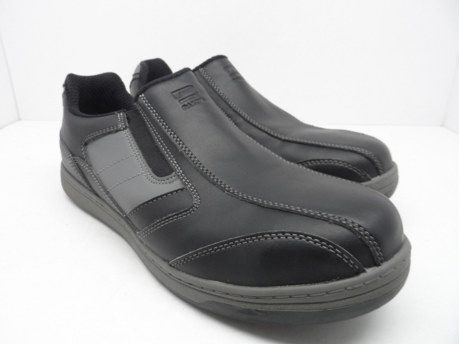 DAKOTA Men's Street Sport Steel Toe Steel Black/Gray Plate Slip-On Work Shoe Black/Gray Steel 9.5 aa750f