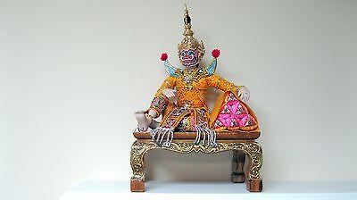 OOAK Thai Pipek Demon Brother Totsakan Handcrafted Porcelain Ramakien Ramayana