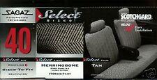 NEW EL CAMINO CAR SEAT COVERS SPLIT  BACK FULL BENCH HERRINGBONE TAN SOFT DURABL