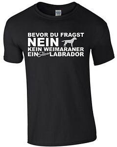 Labrador-Labbi-kein-Weimaraner-Hund-T-Shirt-Shirt-Dog-Hundesport-Agility-m166