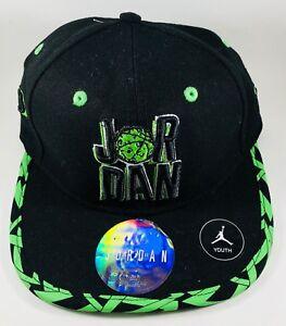 72b1506db80ff2 Image is loading 034-NEW-034-Jordan-Youth-Black-Green-Snapback-
