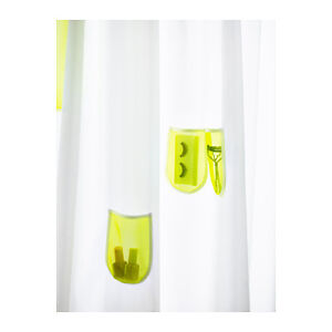 Image Is Loading IKEA SPRUTT Shower Curtain White Yellow Pockets 71