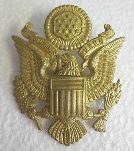 Details about US Army Air Force Cap Badge Officer Visor Peaked AAF WW2 WWII  Eagle Lightly Aged