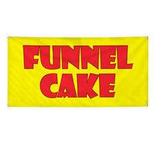 Vinyl Banner Multiple Options Funnel Cake Food Fair Promotion Business Outdoor