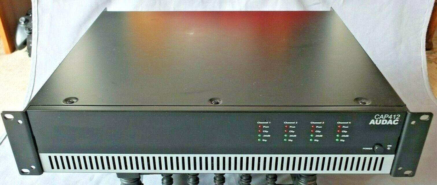 Audac CAP 412  4-Channel AMPLIFIER 120W per Channel - 100V Line or Lo Z