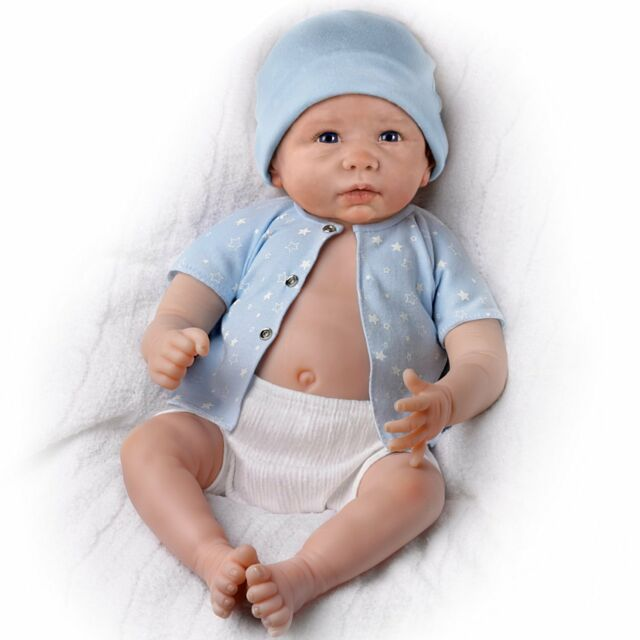 Ashton-Drake Galleries: Lifelike Sweet Baby Liam Baby Boy Doll Is Fully Poseable