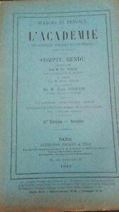 Rivista le Sessioni & Lavoro Di L Academie Relazione Novembre 1913 Parigi ABE