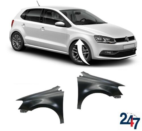 NEW VOLKSWAGEN VW POLO 6R 2009-2017 FRONT WING FENDER LEFT RIGHT PAIR SET