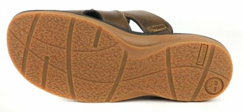 Timberland Men/'s Fells Slide Sandals Slipper Flip Flops Brown LEATHER 5343A USA