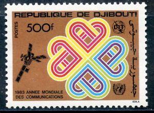 Timbre Republique De Djibouti N° 567 ** Annee Mondiale Des Telecommunications Petit Profit