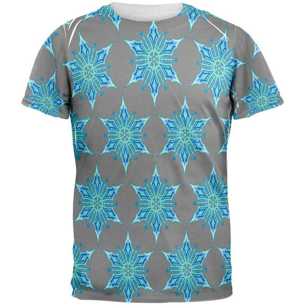 Snowflakes All Over Mens T Shirt